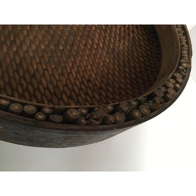 Hand Woven African Folk Art Basket - Image 10 of 10