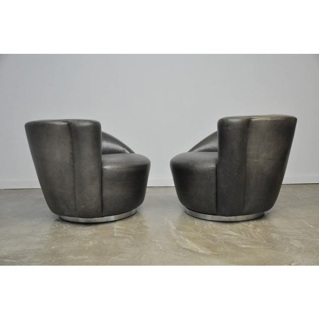 Vladimir Kagan Nautilus Swivel Chairs For Sale In Chicago - Image 6 of 7