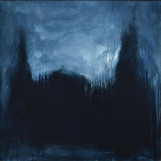 """The Abbey in Moonlight"", Modern Abstract Painting by Stephen Remick For Sale"