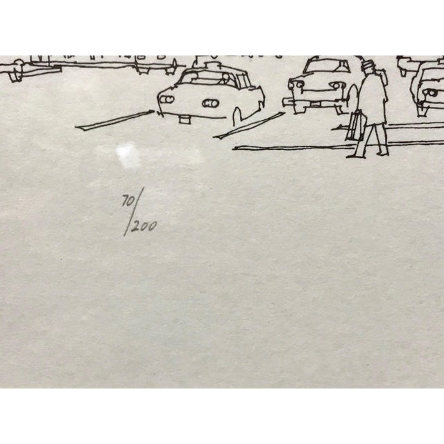 """""""Times Square, NYC 1978"""" Signed and Numbered Line Drawing by Richard Welling For Sale - Image 9 of 10"""