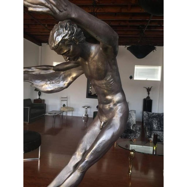 "Plastic Bronze ""We Two Together"" Sculpture For Sale - Image 7 of 10"