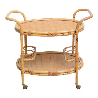 Bamboo Bar Cart, Usa 1965 For Sale