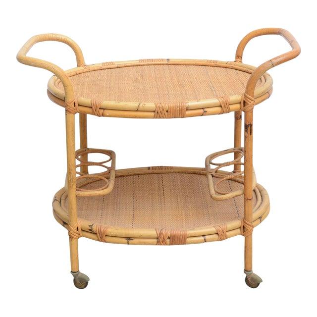Bamboo Bar Cart, Usa 1965 For Sale
