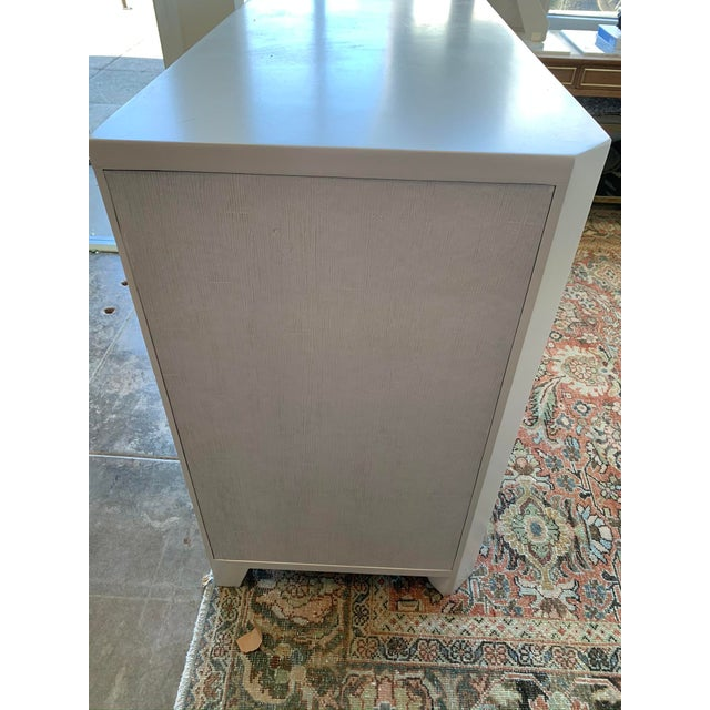 Antique White Modern Bone White Buffet From Made Goods For Sale - Image 8 of 10