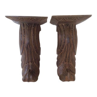 Architectural Baroque Style Corbels, a Pair For Sale