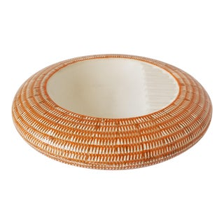 Esta Huttner Brody for Hyalyn Basketry Line Ashtray For Sale