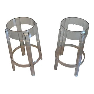 Modern Philippe Starck Bar Stools by Kartell- a Pair For Sale