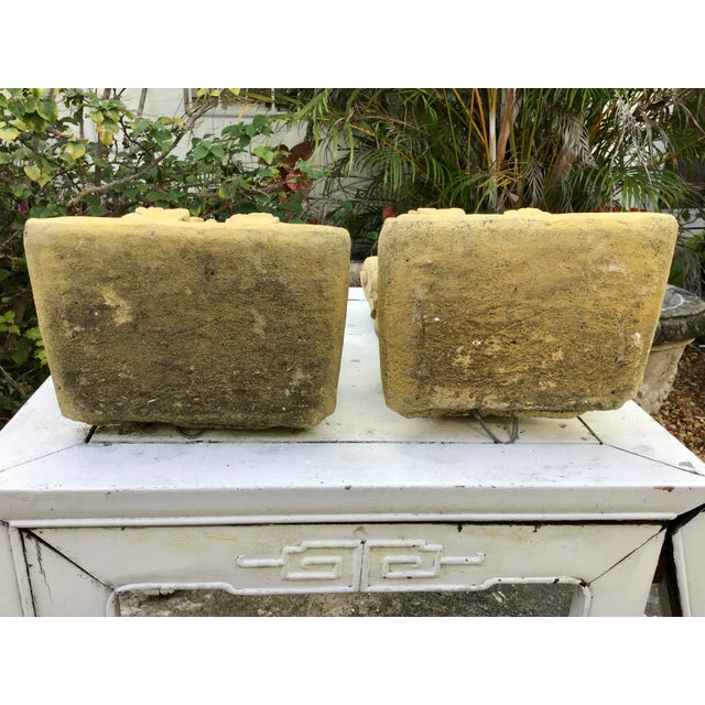 French Limestone Wall Brackets - a Pair For Sale - Image 4 of 6