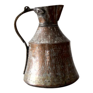 Antique Hammered Copper Pitcher