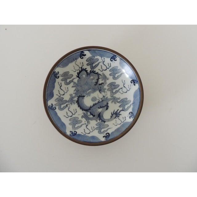 Petite Imari Pewter Encased Decorative Plate For Sale In Miami - Image 6 of 6