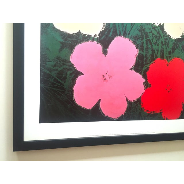 """Pink Andy Warhol Foundation Vintage Lithograph Print Framed Pop Art Poster """" Flowers III """" 1964 For Sale - Image 8 of 13"""
