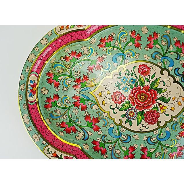Vintage Floral Metal Tray by Daher - Image 3 of 6