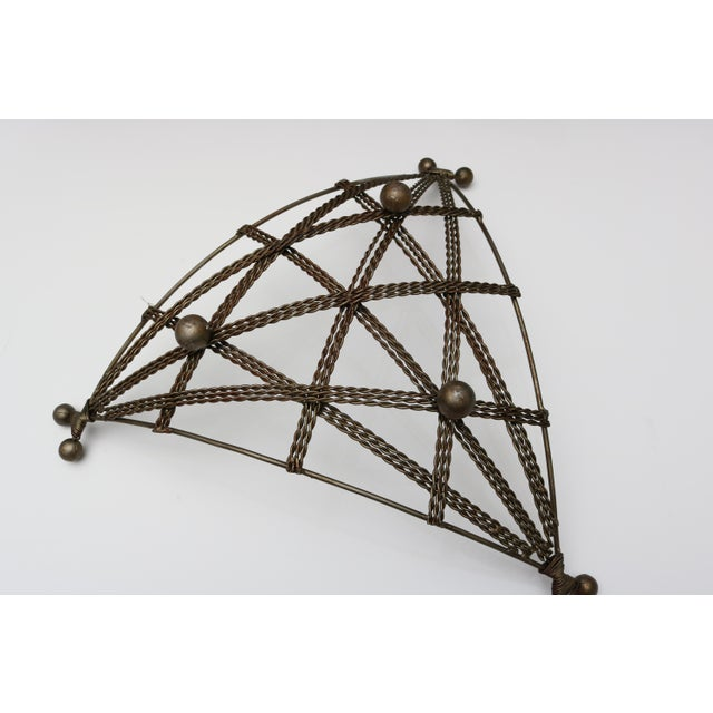 French Geometric Wire Basket For Sale In West Palm - Image 6 of 6