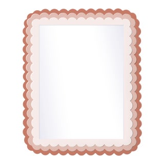 Fleur Home x Chairish Carnival Krewe Rectangle Mirror in Red Earth, 36x48 For Sale