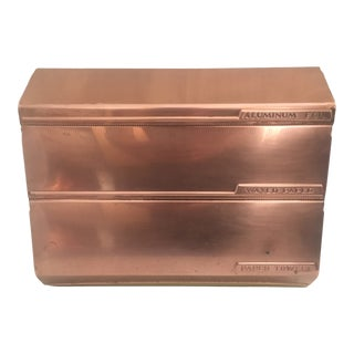 Mid-Century Copper & Metal Kitchen Dispenser For Sale