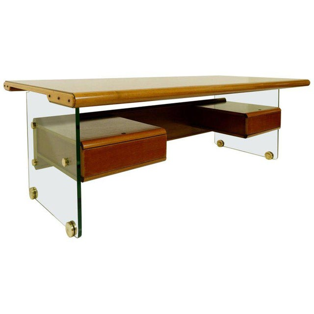 Wood Italian Desk - 60s For Sale - Image 7 of 7
