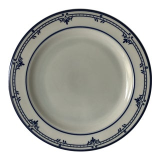 "Cera Stone by Mikasa Newport Blue & White 12"" Platter For Sale"