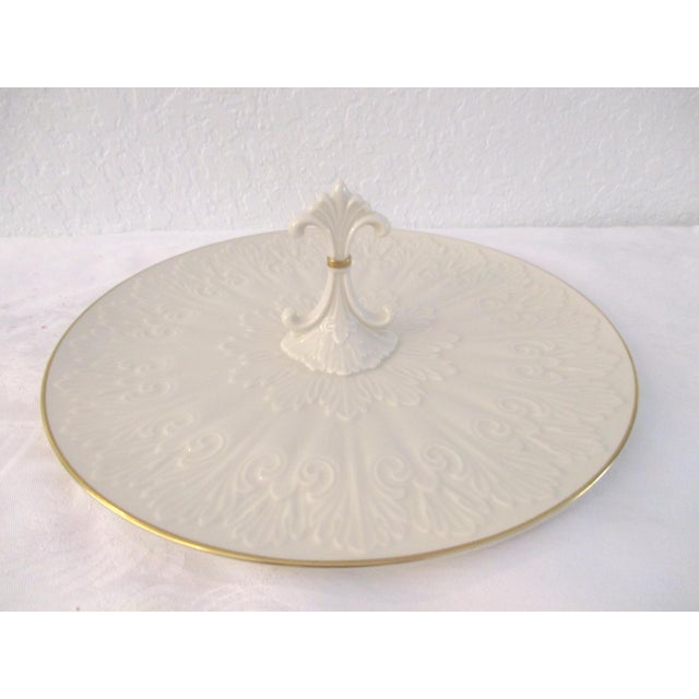 White Lenox Petite Four Serving Platter For Sale - Image 8 of 8