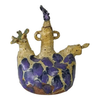 Mid-Century Artistic Sculptural Art Pottery . For Sale