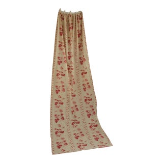 Shabby Chic Faded Floral Drape Curtain For Sale