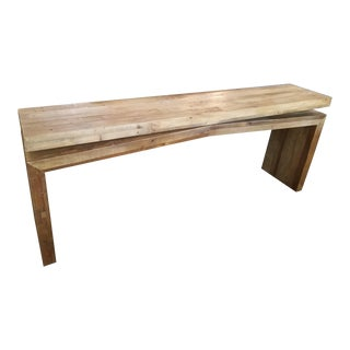 Sierra Matthes Rustic Reclaimed Wood Console Table