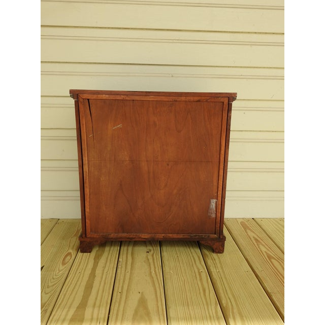 Neoclassical Burl Walnut Table Top Display Cabinet For Sale - Image 9 of 11