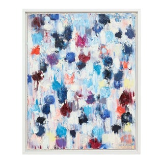 """""""Dripping Dots-Rotterdam"""" 2017 Oil on Canvas 'Framed', Cindy Shaoul For Sale"""