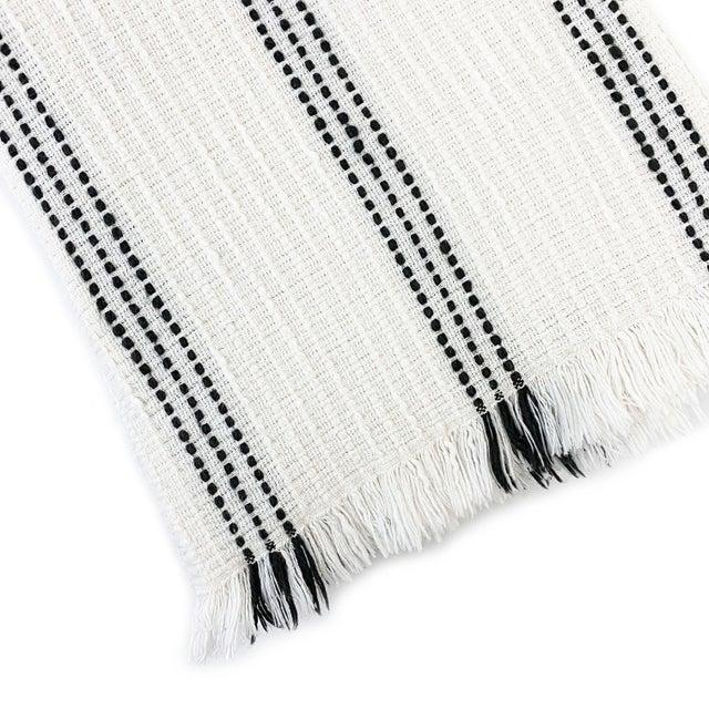 Mediterranean Boho Cotton Throw Blanket For Sale - Image 3 of 5
