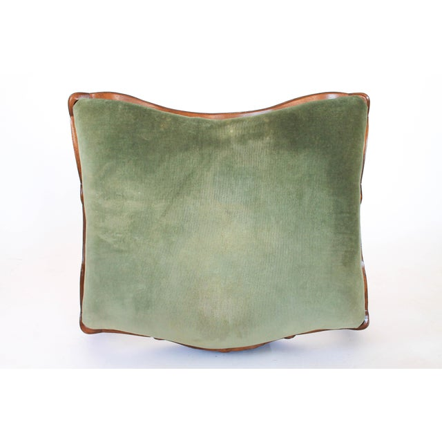 Velvet French Provincial Ottoman or Footstool For Sale In Milwaukee - Image 6 of 8