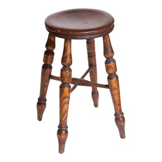 Handmade Antique Wooden Stool For Sale