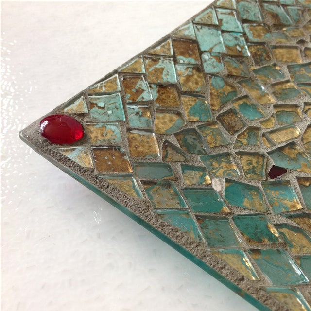 Gold Foil Glass Mosaic Tray - Image 6 of 11