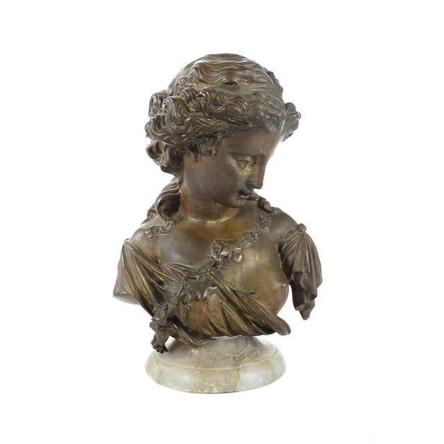 French 19th Century Bronze Maiden Bust - Image 4 of 9
