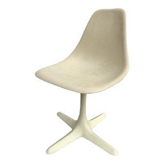 1960s Vintage Eames Herman Miller Style Swivel Chair For Sale