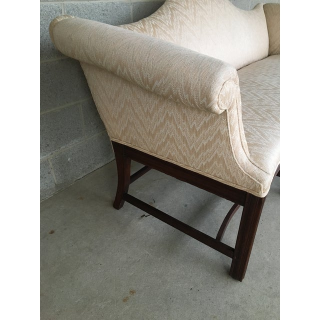 19th Century 19th Century Antique Chippendale Style 8 Leg Camel Back Serpentine Front Settees - A Pair For Sale - Image 5 of 13