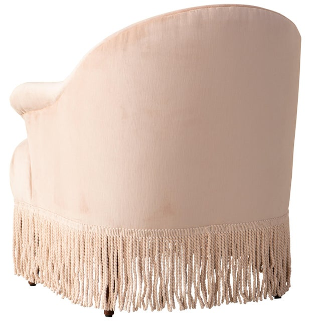 Cloth & Company Fringe Chair in Titan Pink Champagne For Sale - Image 4 of 8