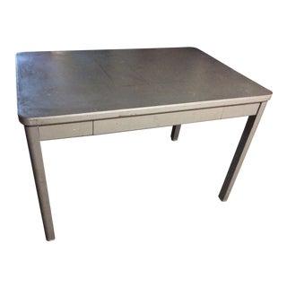 Vintage Industrial Metal Desk For Sale