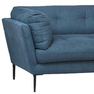 Midcentury Blue Chaise Sofa Preview