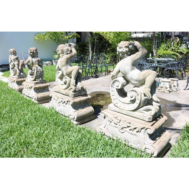 Luxury Large-Scale Louis XV Style Concrete Garden Sculptures of the ...