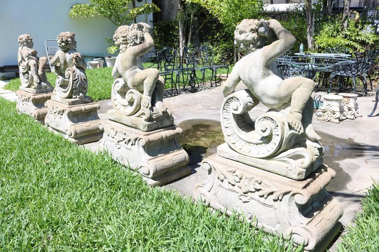 Large Scale Louis XV Style Concrete Garden Sculptures Of The Four Seasons    Image 4