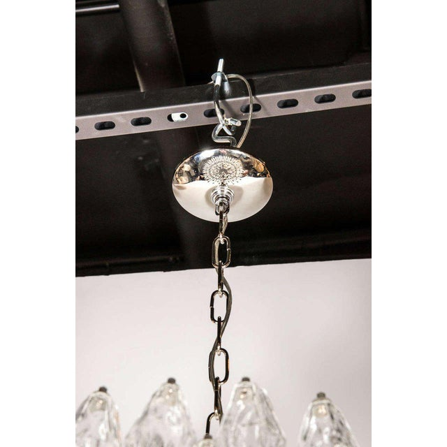 Early 21st Century Modernist Handblown Translucent Murano Glass Polyhedral Chandelier For Sale - Image 5 of 8