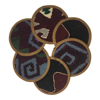 Rug & Relic Kilim Coasters - Set of 6 For Sale