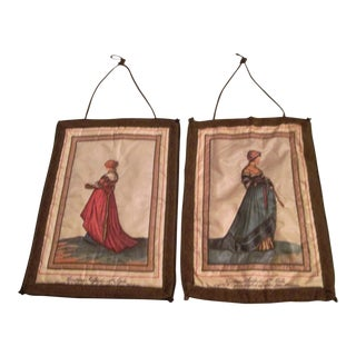 16th Century Antique Jean Holbein Costume Tapestries