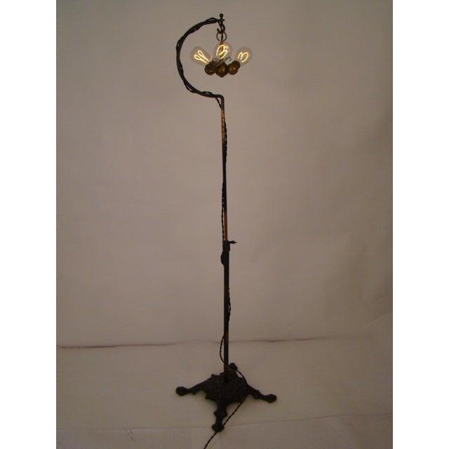 Antique Victorian Cast Iron Adjustable Floor Lamp - Image 11 of 11
