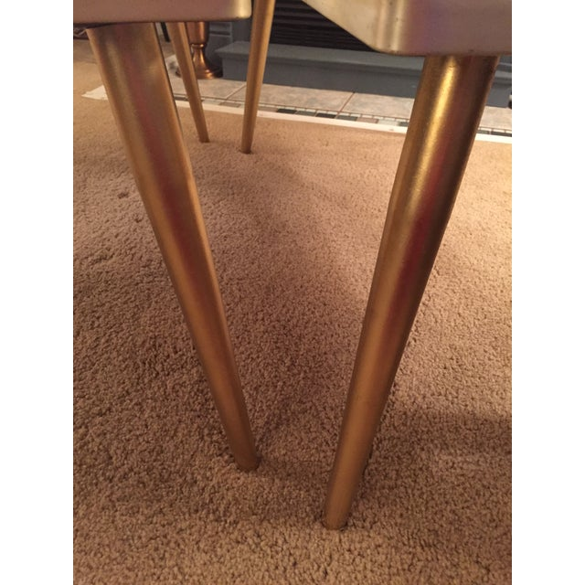 Mid-Century Formica Marble End Tables - A Pair - Image 8 of 10