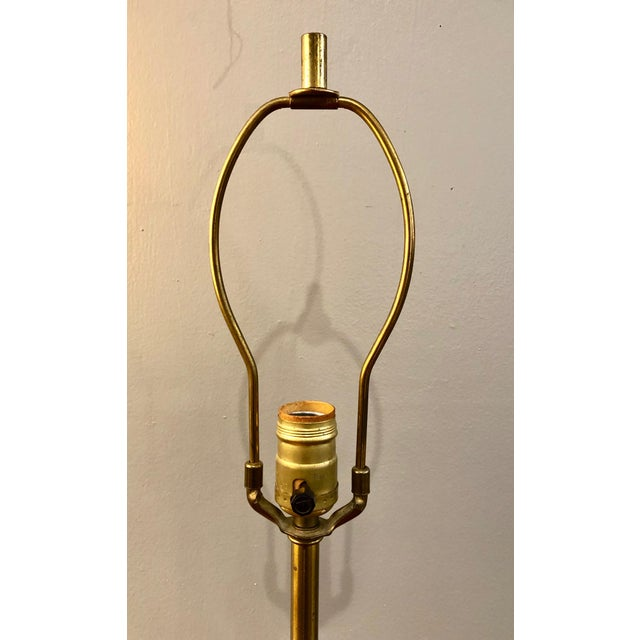 Mid-Century Modern Mid Century Modern Tony Paul for Westwood Brass and Walnut Table Lamp For Sale - Image 3 of 11