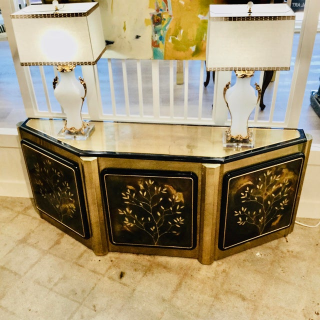 "Mastercraft ""Tree of Life"" Cabinet For Sale In Dallas - Image 6 of 10"