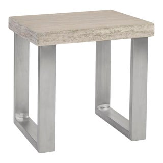 Phillips Collection Engineered Side Table For Sale