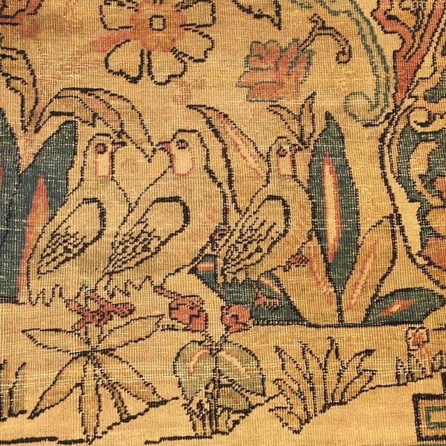 "Textile 19th Century Kermanshah Rug - 51"" x 86"" For Sale - Image 7 of 7"