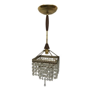 Petite Danish Crystal Chandelier For Sale