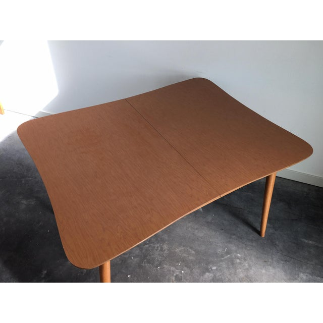 Vinyl Vintage Mid Century Modern 7 Piece Dining Set For Sale - Image 7 of 11